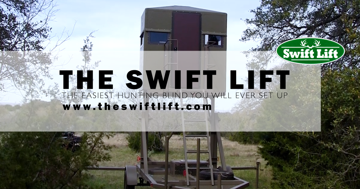 The Swift Lift Mobile Hunting Blind Stand by Comanche Peak Outdoors